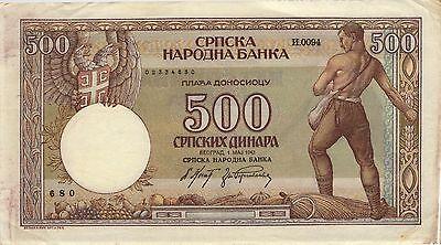 Ro.609 Besetzung Serbien 500 Dinara 1942 (3)