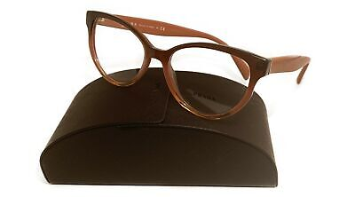 Prada Women's Pink Brown Glasses with case VPR 01u VX5-1O1 52mm