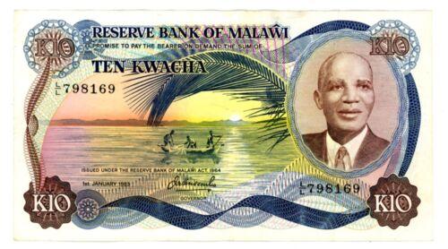 Malawi ... P-16e ... 10 Kwacha ... 1983 ... *VF-XF*
