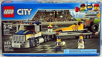 Lego 60151 City Dragster Transporter 333 pcs NIB