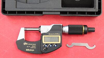 Mitutoyo 293-185-30 Quantumike 0-125.4mm Fast Measure Ip65 Digital Micrometer