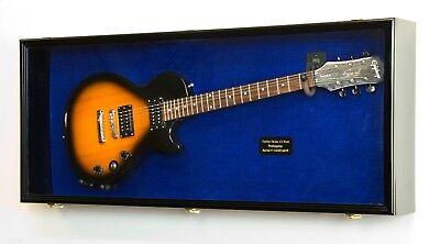 Horizontal Fender Stratocaster Acoustic Guitar Display Case Cabinet 98% UV Locks