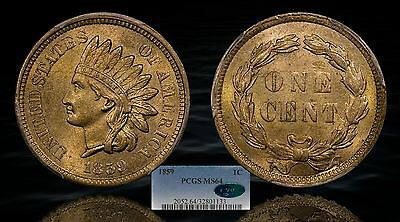 Click now to see the BUY IT NOW Price! 1859 INDIAN HEAD CENT PCGS MS64 CAC PQ   PACOINS