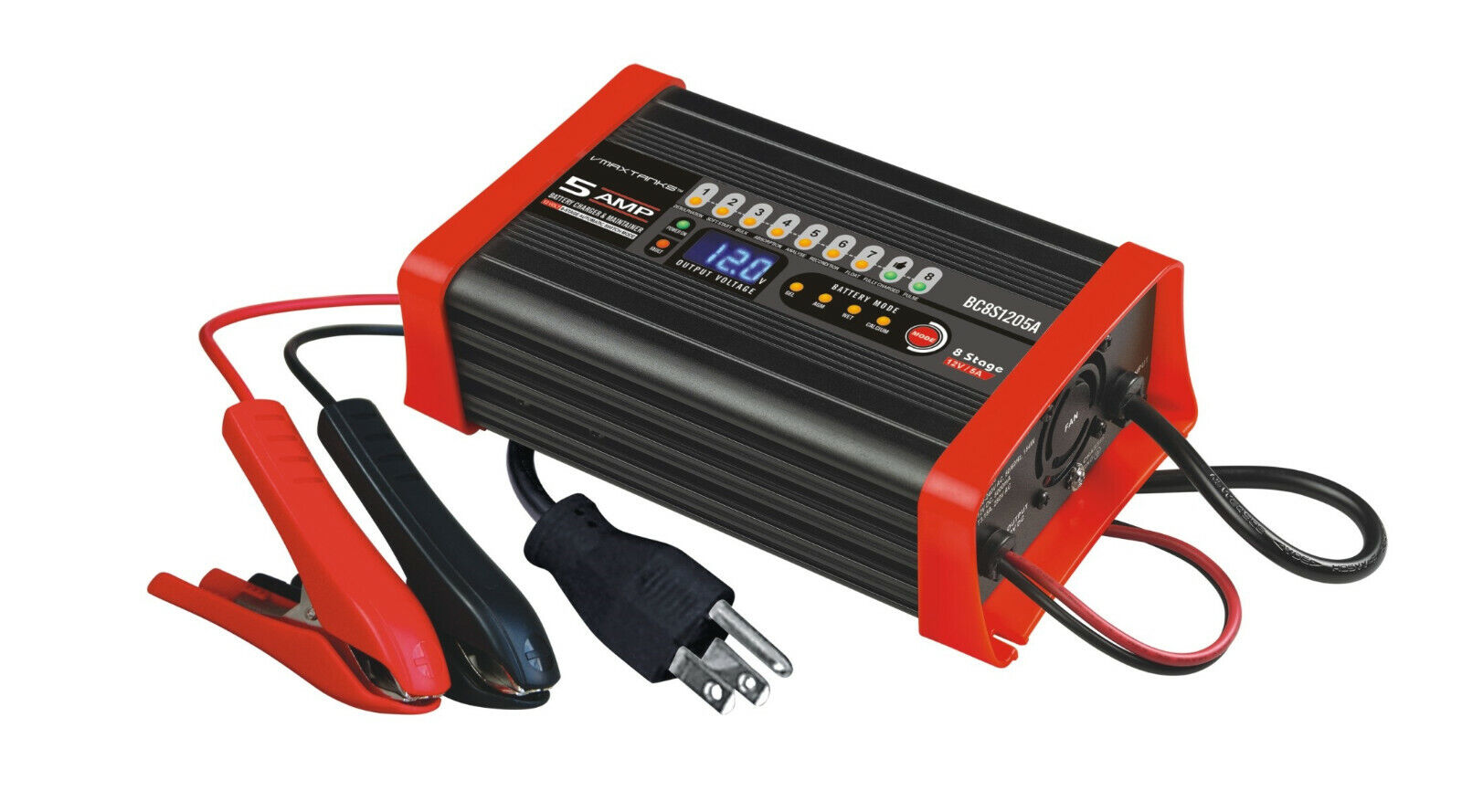 VMAX BC8S1205A 12V 5A Smart Charger and Tender for VMAXTANKS