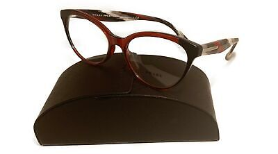 Prada Women's Red Bordeaux Glasses with case VPR 05U VYO-1O1 (Red Pradas)
