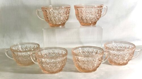 6 Jeannette Pink Holiday Cups