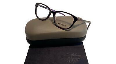 Harley Davidson Women's Purple Horn Glasses with case HD 0523 065 (Purple Prescription Glasses)