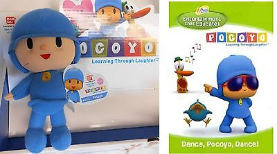 "6"" Pocoyo plush - NWT by Bandai America.  Plus, a BONUS DVD!"