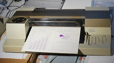 Hp 7475a Plotter - Mint Condition Working With Pensserial-power Cable