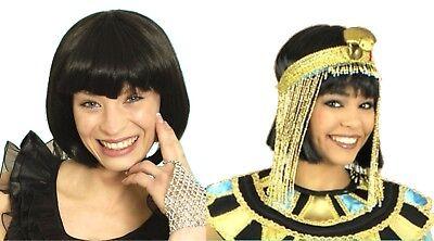 Damen Perücke schwarz Pagenkopf z.B. zu Kostüm Ägypterin, - 20er Jahre Perücke