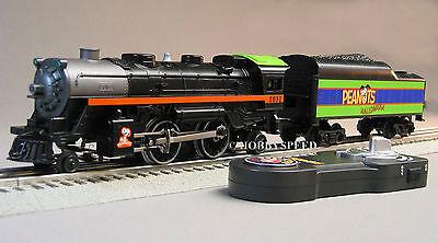 LIONEL PEANUTS HALLOWEEN STEAM ENGINE/TENDER REMOTE CONTROL train 30214 6-18789 (Halloween Train Set)