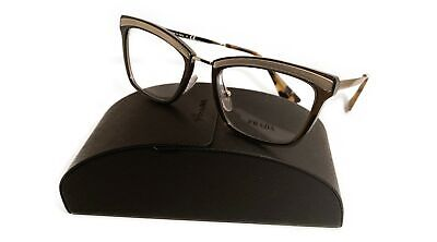 Prada Women's Brown Gold Glasses with case VPR 15U KJM-1O1 50mm