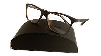Prada Men's Matte Brown/Tortoise Glasses with case VPR 05S UBG-1O1 (Prada Mens Reading Glasses)