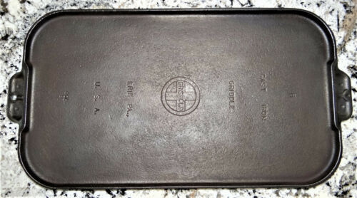 Griswold 908 B #8 Cast Iron Griddle Small Logo Vtg Antique