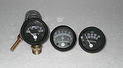 Ford Tractor 2n 8n 9n Naa 601 70 801 901 2000 4000 Amp Oil Temp Gauge Set Black