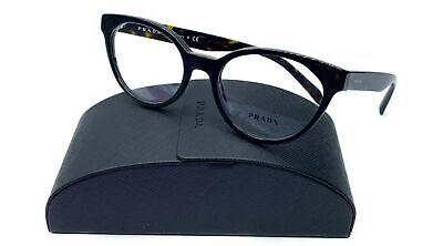 Prada Women's Black Cats Eye Glasses  5118 with case VPR 01T 1AB-1O1 (Catseye Glasses Case)