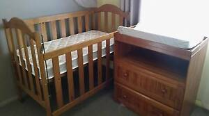 Baby Cot & Change table brand new mattress Penrith Penrith Area Preview