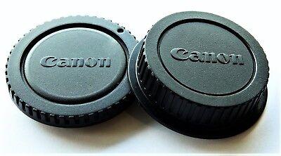 "CANON CAMERA BODY/REAR LENS CAP SET*NEW* "" FAST FREE SHIPPING."" U.S.A. SELLER""!"