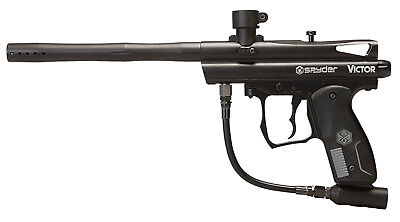 Black Semi Automatic Gun - Spyder Victor Diamond Black Semi-automatic Paintball Marker Gun Woodsball Gun