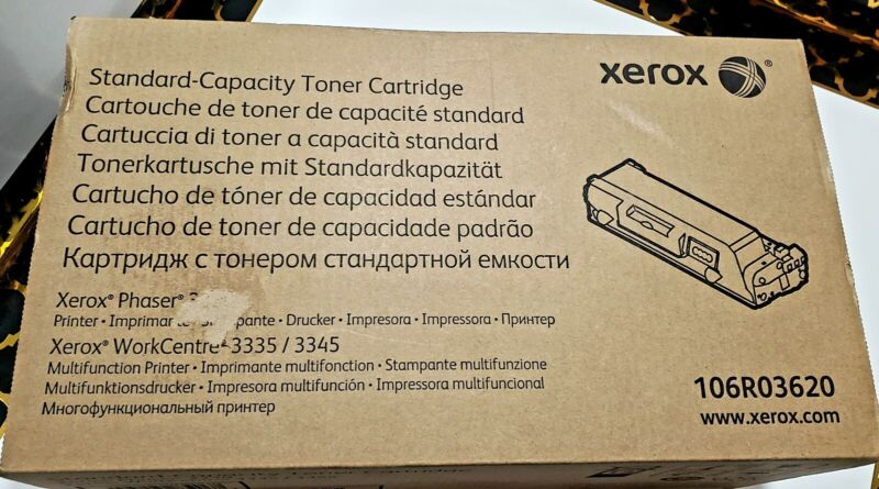 Xerox Capacity Toner Cartridge 106R03620  Phaser 3330/WorkCentre 3335/3345 NEW
