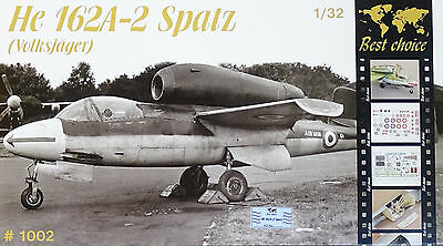 BEST CHOICE #1002 He162A-2 Spatz Volksjäger (LIMITED 999 pieces) in 1:32