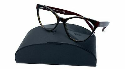 Prada Women's Red Burgundy Glasses 5417 with case VPR 02T USH-1O1 54mm