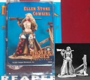 Reaper 30005 Ellen Stone Cowgirl 1 54mm Miniature Female ...