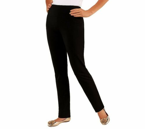 B-347 Women with Control Regular Slim Leg Pants w/Tummy Cont