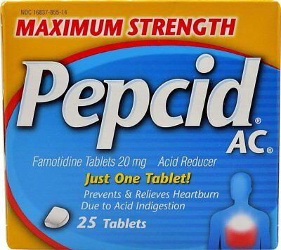 Pepcid AC Tablets Maximum Strength - 25 ct, Pack of 4
