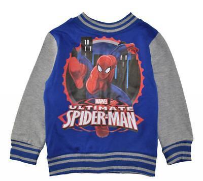 Marvel Spider-Man Boys Blue & Gray Fleece Jacket Size 2T 3T 4T Spider Man Fleece