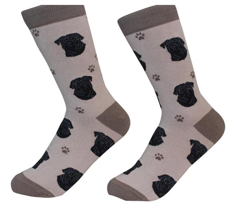 Pug Socks Unisex Black
