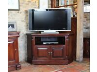 Dark Wood Corner TV Unit NEW