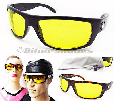 YELLOW Sunglasses Night Vision Driving Motorcycle Cycling Men Women (Yellow Sunglasses Men)