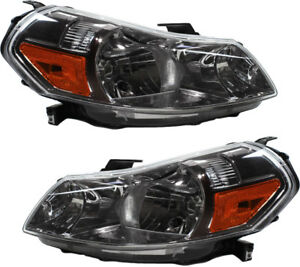 Halogen Headlights Headlamps NEW Pair Set (LH & RH) For 2007-2013 Suzuki SX4