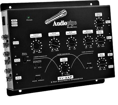 Audiopipe XV3XP 8V Max Output High-pass 3-Way Variable Crossover w/ Line Driver
