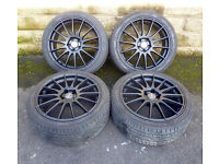 """18"""" Fox racing Alloy wheels tyres 5x108 Ford Focus ST Mondeo Transit Connect"""