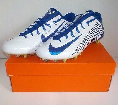 deaf5aeed93de6 Nike VAPOR CARBON 2.0 ELITE Football Cleats WHITE BLUE 13.5 657441 109 SIZE  13.5
