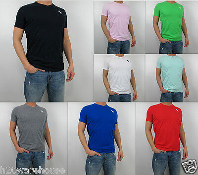 NWT Abercrombie Fitch Men Slim Muscle Fit Kilburn Mountain Tee V Neck T Shirt