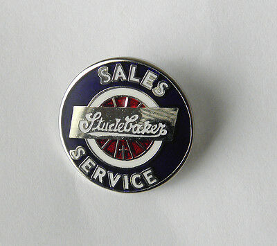 STUDEBAKER SALES SERVICE LOGO AUTOMOBILE CAR LAPEL PIN BADGE 3/4 INCH