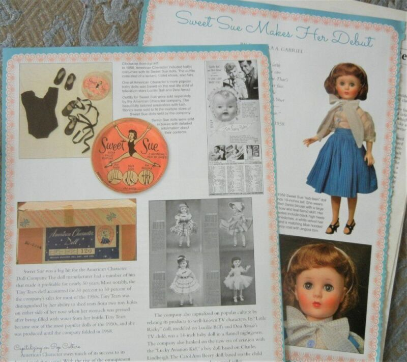 13p History Article + ID - VTG American Character Sweet Sue Sophisticate Doll