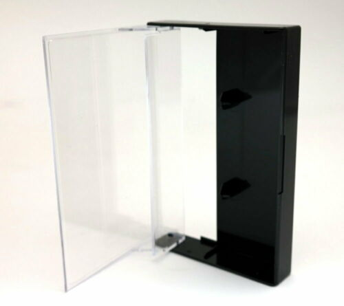 Black/Clear Norelco Cassette Case (10 Pack)