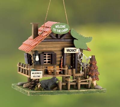"""Woodland Cabin Birdhouse """"A Call To The Wild"""""""
