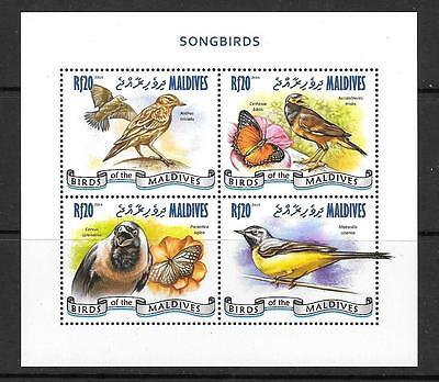 MALDIVE ISLANDS 2014 SONGBIRDS (1) MNH