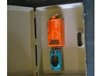 Black & Decker drill attachments; Sander, Jigsaw (New) and Circular saw (New) in carry case.