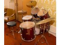 Red pearl forum drums