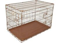 Hound dog crate, copper, large