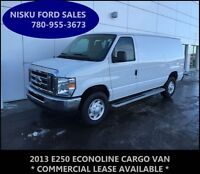 2013 FORD ECONOLINE E250 CARGO VAN V8 AIR CONDITIONING