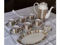 ICONIC AND COLLECTABLE Midwinter Sienna pattern coffee set. With Rare Jug