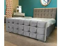 VAGUS BED DOUBLE/KING SIZE WITH/WITHOUT ORTHPADIC MATTRESS IN DIFFERENT FABRIC & COLORS