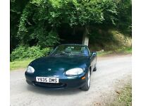 Mazda mx5 good clean car inside and out. 1 year mot, new roof recently been wax oiled ready to go.